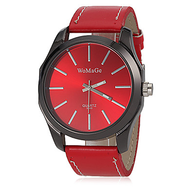Pentru femei Ceas La Modă Ceas de Mână Quartz Bandă Negru Alb Roșu Maro