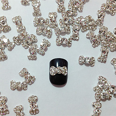 10PCS Embedded Diamond Bowknot Nail Art Decorations