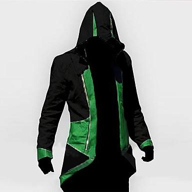 Inspireret af Snigmorder Cosplay video Spil Cosplay Kostumer Cosplay Hættetrøjer Trykt mønster Langærmet Frakke