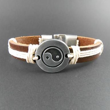 Fashion Eight-Diagram-Shaped Appetizer 20cm Men's Multicolor Leather Wrap Bracelet(1 Pc) Christmas Gifts