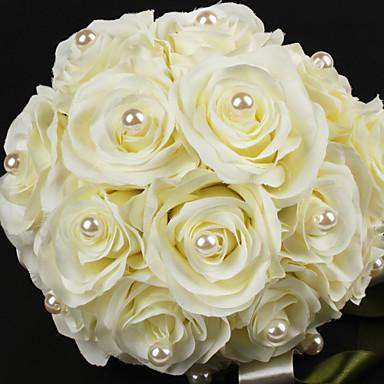 Flori de Nuntă Rotund Trandafiri Buchete Satin Bumbac 8.66