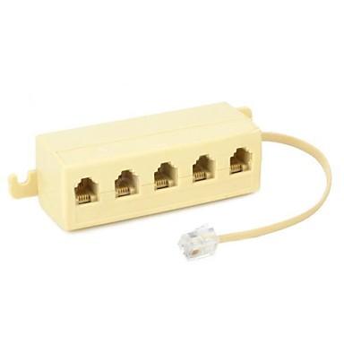 1to5 Multifunktions-RJ11-Telefonkabel Junction Box Split-Adapter