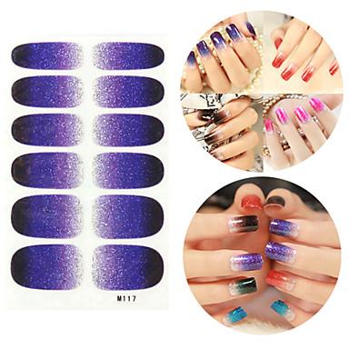 28PCS Glitter Gradient rampă Nail Art Stickere M Series nr.117
