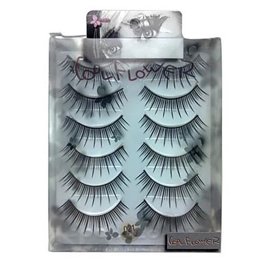 6 pairscoolflower false eyelashes 021#