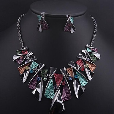 Women's Vintage Party Fashion Bridal Colorful European Jewelry Set Gemstone Alloy Jewelry Set , Wedding Special Occasion Birthday Gift