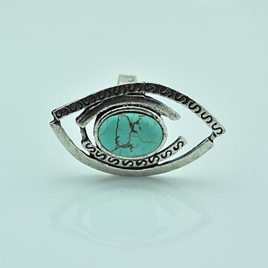 Dámské Prsteny s kamenem Nastavitelná Tyrkys Slitina Dračí oko Šperky Pro Párty Denní