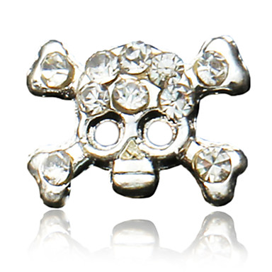 10ks Funny Skulls design Rhinestone Studded Nail Art Decoraions