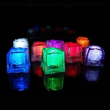 36pcs změna barvy ledové kostky led světlo party svatební bar restaurace