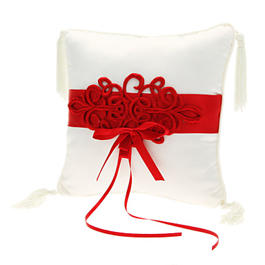 Embroidery Satin Ring Pillow Asian Theme