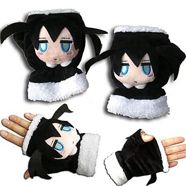 Gloves Inspired by Vocaloid Black Rock Shooter Anime Cosplay Accessories Gloves Polar Fleece Men's Women's Children's New Hot