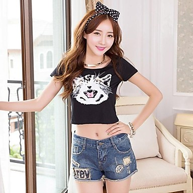 Low Rise Micro-elastic Shorts Jeans Pants, Sexy Spring Summer Fall