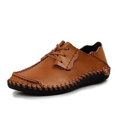 Oxfordky Černá / Hnědá / Khaki Pánské boty Kůže Běžné