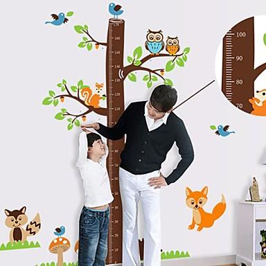 Createforlife® Cartoon Tree Height Chart Kids Nursery Room Wall Sticker Wall Art Decals