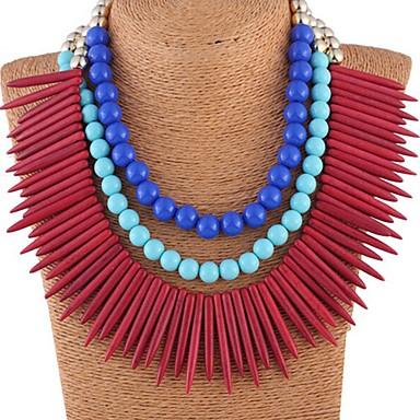 SALLY Dámská luxusní Punk Style Turquoise náhrdelník