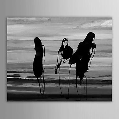 Ручная роспись Люди 1 панель Холст Hang-роспись маслом For Украшение дома