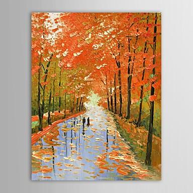 Hang-geschilderd olieverfschilderij Handgeschilderde - Landschap Klassiek Kangas
