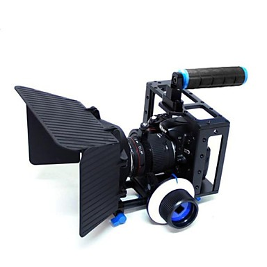yelangu® top handle dslr camera kooi met matte doos en volg richten voor dslr camera video