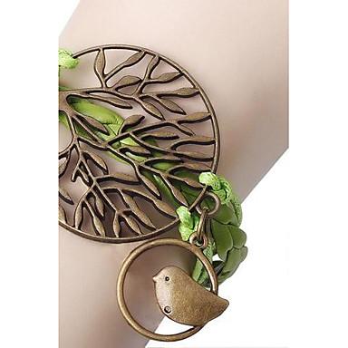 Dames Wikkelarmbanden Leder Legering Dierenvorm Vogel Sieraden Voor Dagelijks Kerstcadeaus