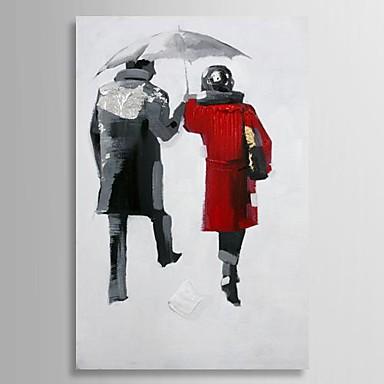 Handgeschilderde Mensen Eén paneel Canvas Hang-geschilderd olieverfschilderij For Huisdecoratie