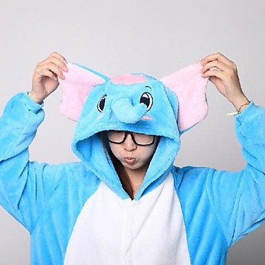 Kigurumi Pyjama  Olifant Kostuum Knuffelfleece Kigurumi Gympak / Onesie Cosplay Festival / Feestdagen Dieren nachtkleding Halloween