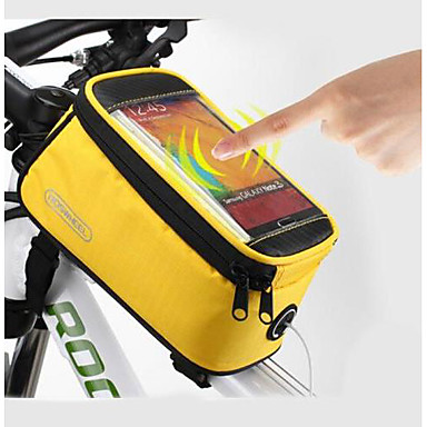 ROSWHEEL Cell Phone Bag Bike Frame Bag Top Tube 5.5 inch Touch Screen Waterproof Cycling for Samsung Galaxy S6 LG G3 Samsung Galaxy S4 Blue / Black Red Blue Cycling / Bike / iPhone X / iPhone XR
