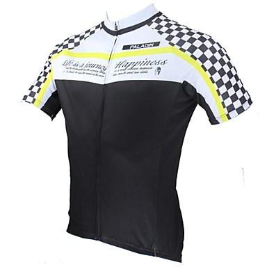 ILPALADINO Herre Kortærmet Cykeltrøje Cykel Trøje, Hurtigtørrende, Ultraviolet Resistent, Åndbart