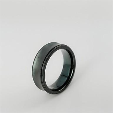 Муж. Классические кольца На заказ Титановая сталь Бижутерия Новогодние подарки Повседневные