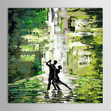 Hang-роспись маслом Ручная роспись - Абстракция Современный холст