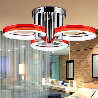 Modern / Zeitgenössisch Unterputz Raumbeleuchtung - LED, 90-240V, Weiß, LED-Lichtquelle enthalten