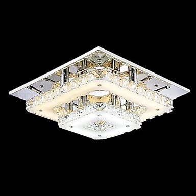 Flush Mount ,  Modern/Contemporary Traditional/Classic Country Chrome Feature for Crystal LED Mini Style MetalLiving Room Bedroom Dining
