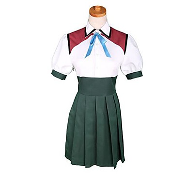 Inspired by Cosplay Cosplay Anime Cosplay Costumes Cosplay Suits Color Block Short Sleeves Top Skirt For Women's