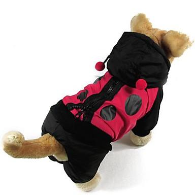 Cat Dog Coat Dog Clothes Color Block Cotton Costume For Pets Men's Women's Keep Warm Fashion