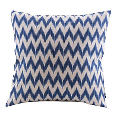 1 pcs Cotton/Linen Pillow Cover, Chevron Country