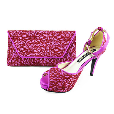 Women's Spring Summer Fall Mary Jane Dress Party & Evening Stiletto Heel Purple Beige Navy