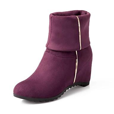 Women's Shoes Suede Winter Fall Wedge Heel 8