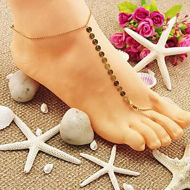 shixin® sandale desculț de aur stralucind clasice (1 buc)