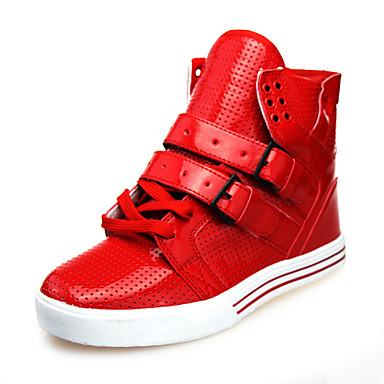 Муж. обувь Дерматин Весна Осень Удобная обувь для Повседневные Черный Белый Красный