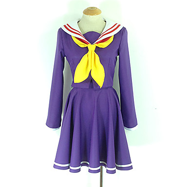 Home Helpful Hot Anime No Game No Life Shiro Cosplay Costumes Daily Halloween Cartoon Girls Lolita Dress Suits College Uniforms