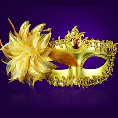 billige Masker-1pc plast med krystal Glod blomst vizard maske venedig Priness