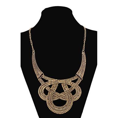 Damen Statement Ketten - Schleife Gold Modische Halsketten Für Party