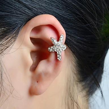 Pentru femei Cătușe pentru urechi Lux Ștras Diamante Artificiale Aliaj Αστέρι Bijuterii Argintiu Nuntă Petrecere Zilnic Casual Sport