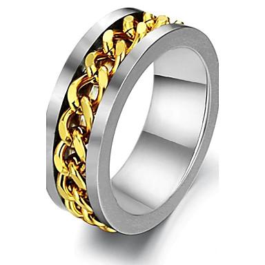 Pentru femei Band Ring / Inel - Placat Auriu Stilat 7 / 8 / 9 Pentru Nuntă / Petrecere / Party / Seara / Zilnic / Casual / Sport