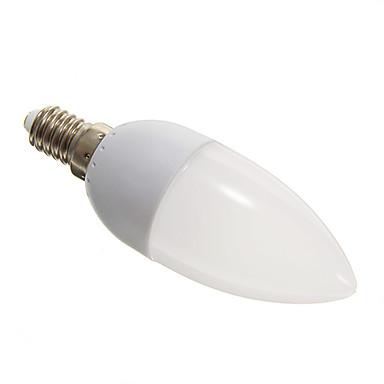 E14 LED лампы в форме свечи 10 SMD 3528 110-140 lm Холодный белый 5000-6500 К AC 100-240 V
