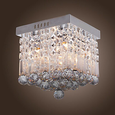Flush Mount Ambient Light - Crystal Mini Style, Modern / Contemporary, 110-120V 220-240V Bulb Not Included