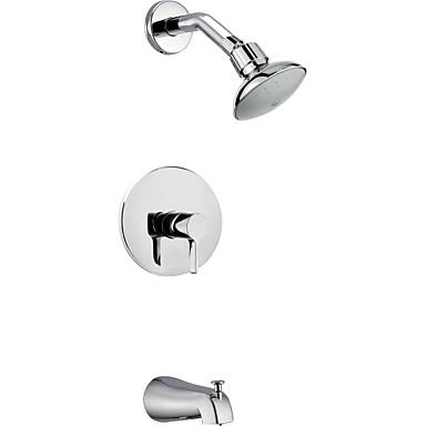 perete crom contemporan de montare ploaie singur alamă mâner duș robinet cu duș și robinet robinet