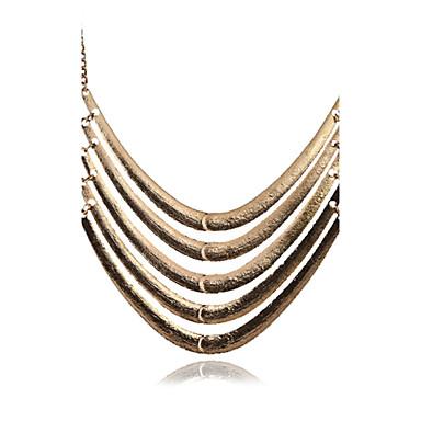 billige Mote Halskjede-Dame Uttalelse Halskjeder lagdelte Hals Multi Layer Statement damer Personalisert Vintage Legering Sølv Gylden Halskjeder Smykker Til Fest Daglig Avslappet