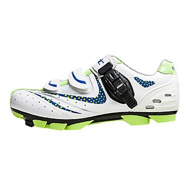 billige Sykkelsko-Santic menn atle grønne prikker mtb mountian sykkel sykling låse sko - hvit + blå
