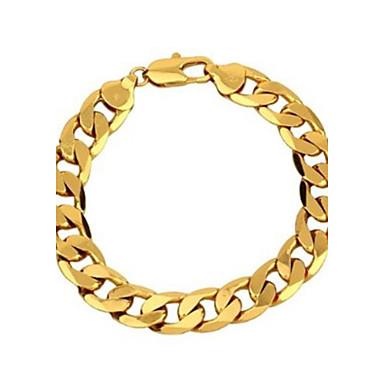 Bărbați Brățări cu Lanț & Legături Clasic Auriu Articole de ceramică Placat Auriu Bijuterii Bijuterii Petrecere Casual Costum de bijuterii