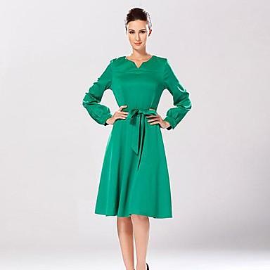b6aa8c05dbe4 ευρωπαϊκή και η αμερικανική μόδα v-neck λεπτή λεπτή ζώνη στη μέση μακρύ  φόρεμα των