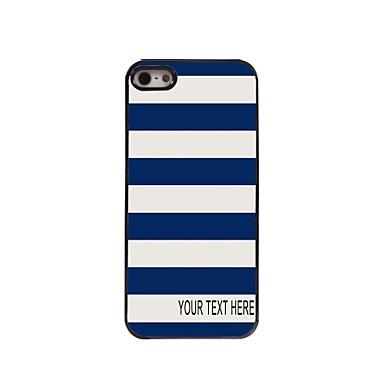 caz dungă caz personalizate de metal de design pentru iPhone 5 / 5s